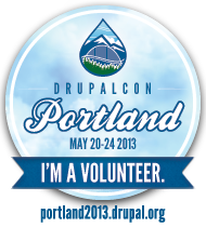 I'm a Volunteer at DrupalCon Portland